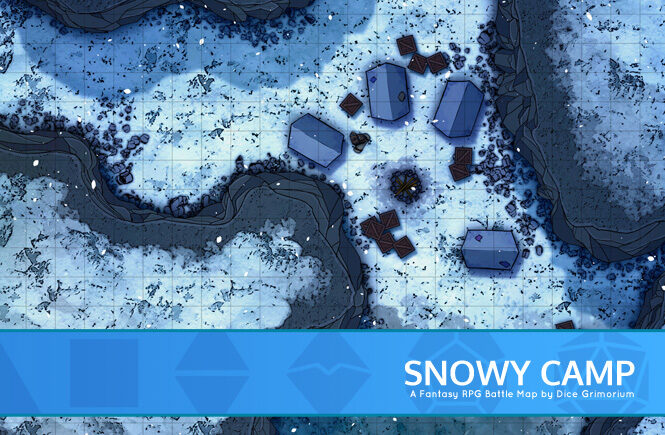 Snowy Camp Battle Map Banner
