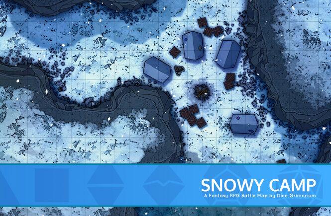 Snowy Camp Battle Map Banner