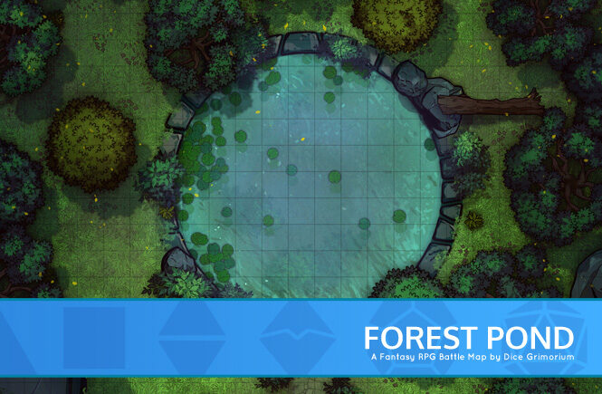 Forest Pond Battle Map Banner