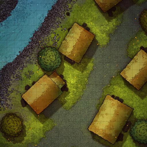 Riverside Village Battle Map Thumb