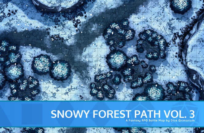 Snowy Forest Path Vol. 3 Battle Map Banner