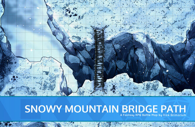 Snowy Mountain Bridge Path Banner