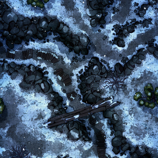 Winter Rocky Path Battle Map Thumb