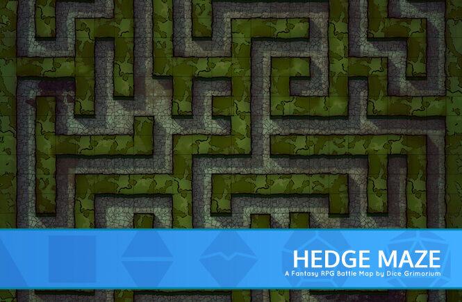 Hedge Maze Battle Map Banner