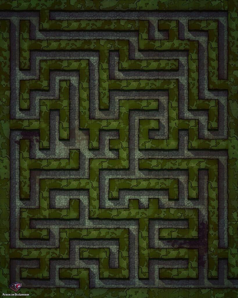 Hedge Maze Battle Map