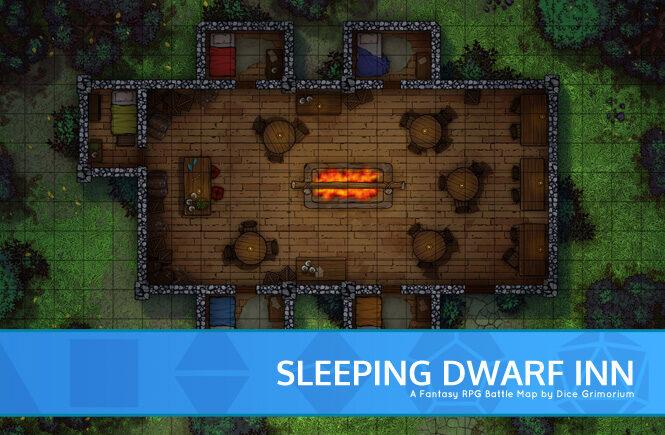 Sleeping Dwarf Inn Battle Map Banner