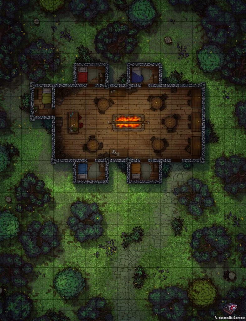 Sleeping Dwarf Inn Battle Map