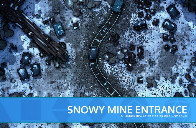 Snowy Mine Entrance Battle Map Banner