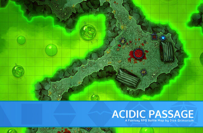 Acidic Passage Battle Map Banner