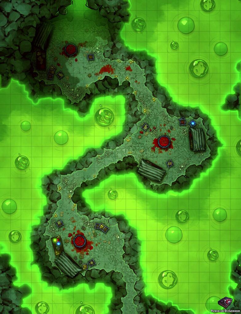 Acidic Passage Battle Map