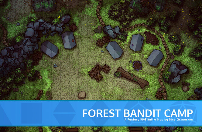 Forest Bandit Camp Battle Map Banner