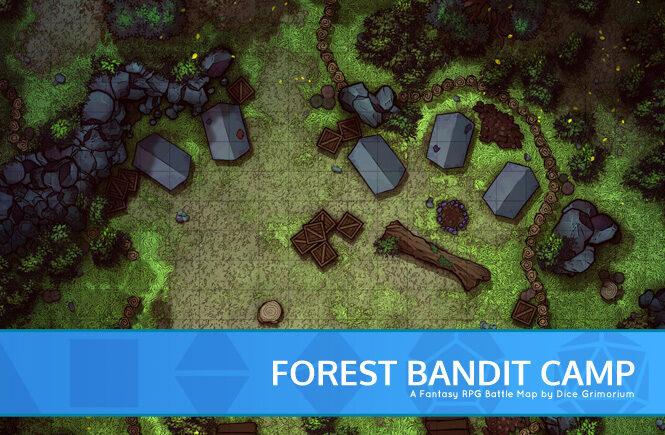 Forest Bandit Camp Battle Map Banner
