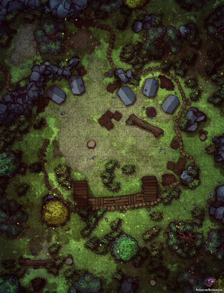 Forest Bandit Camp Battle Map