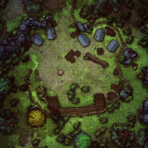 Forest Bandit Camp Battle Map Thumb