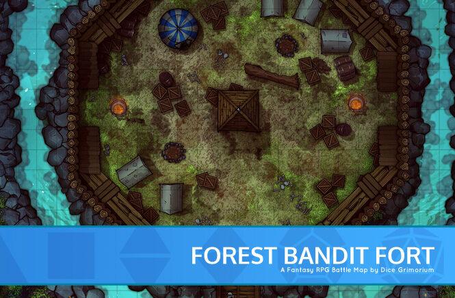Forest Bandit Fort Battle Map Banner