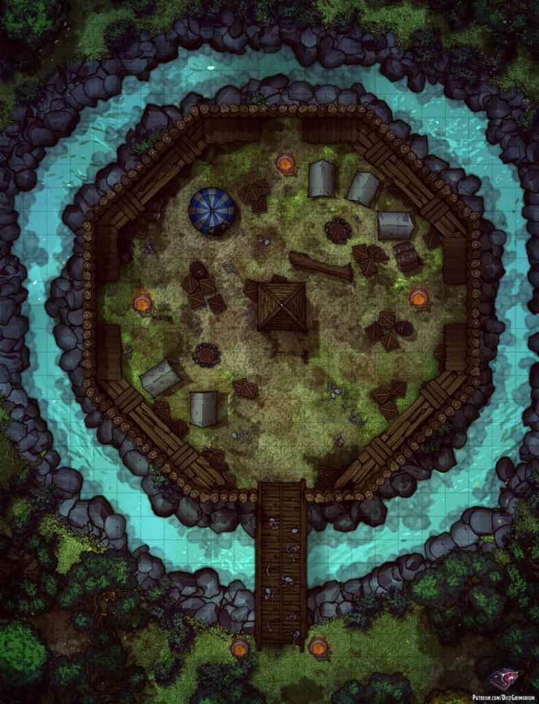 Forest Bandit Fort Battle Map