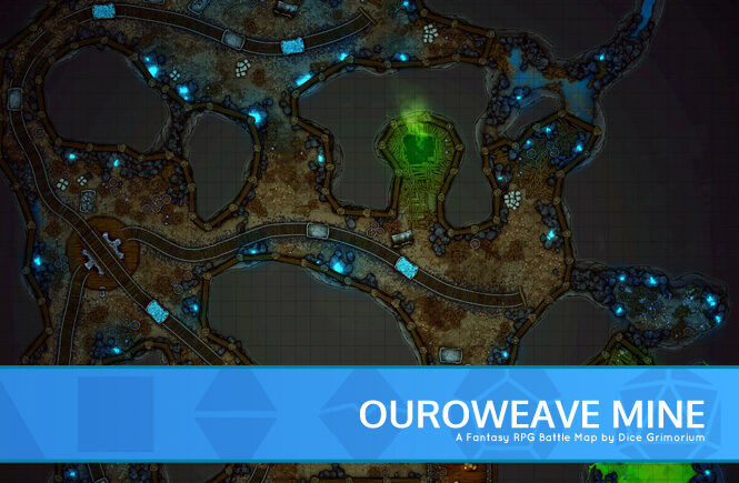 Ouroweave Mine Battle Map Banner