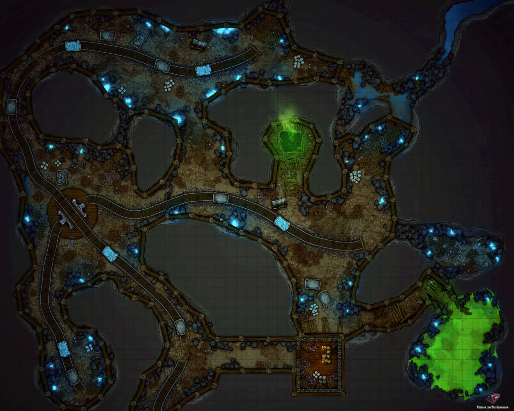 Ouroweave Mine Battle Map
