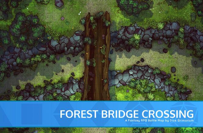 Forest Bridge Crossing Battle Map Banner