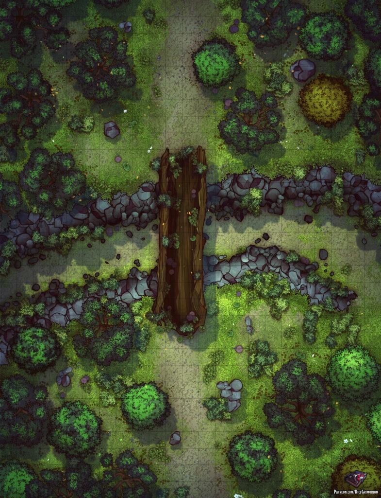 Forest Bridge Crossing Battle Map