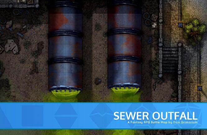 City Sewer Outfall Battle Map Banner
