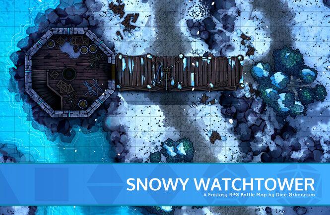 Snowy Watchtower Battle Map Banner