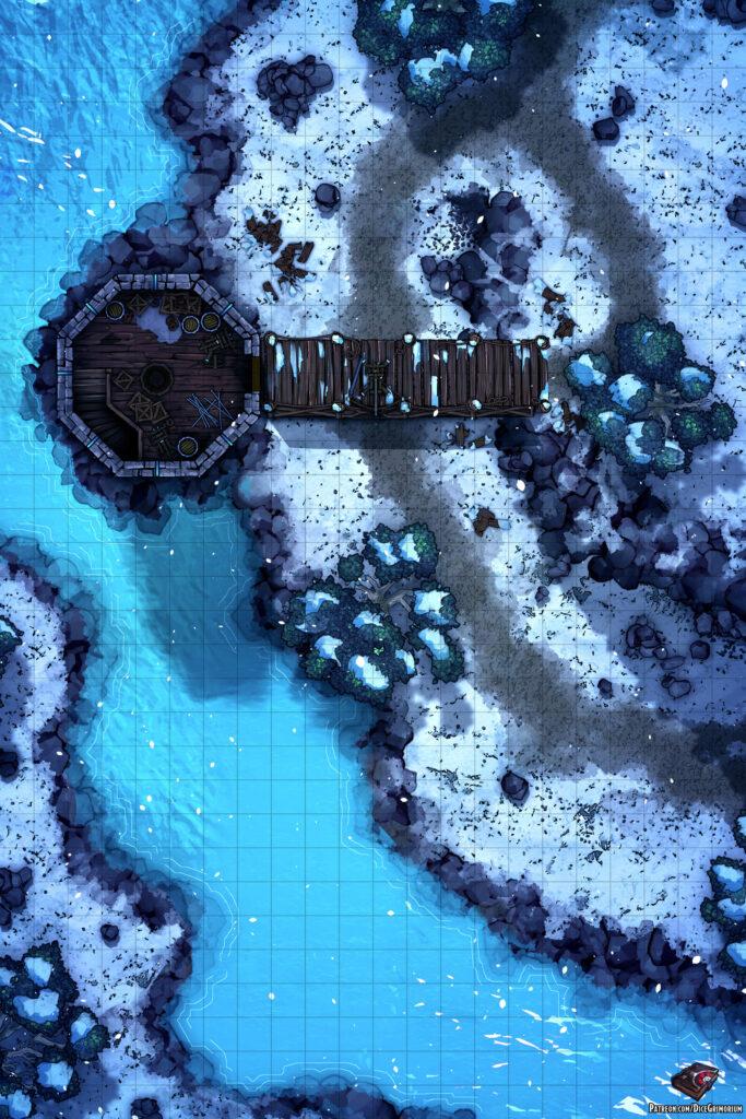 Snowy Watchtower Battle Map