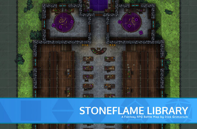 Stoneflame Library Battle Map Banner