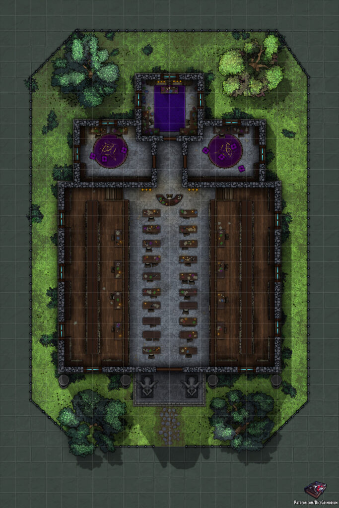 Stoneflame Library Battle Map