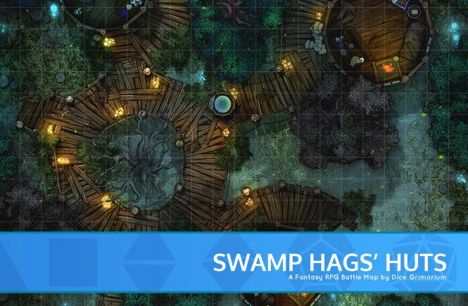 Swamp Hags' Huts Battle Map Banner