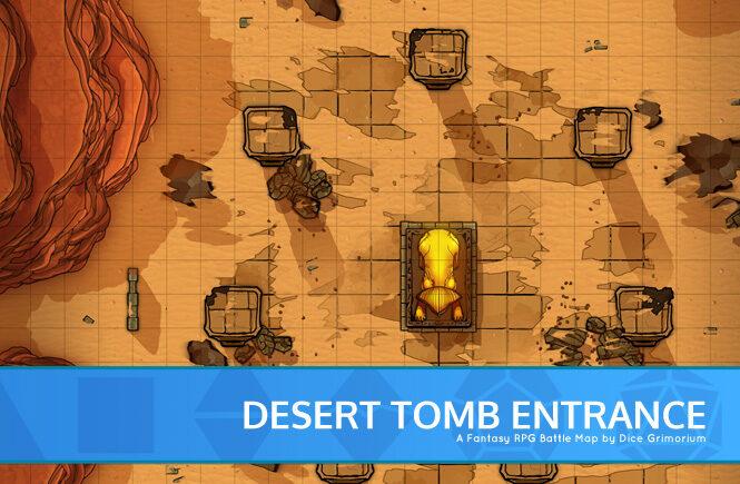 Desert Tomb Entrance Battle Map Banner