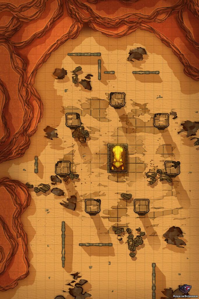 Desert Tomb Entrance Battle Map