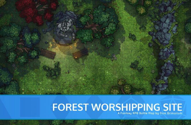Forest Worshipping Site Battle Map Banner