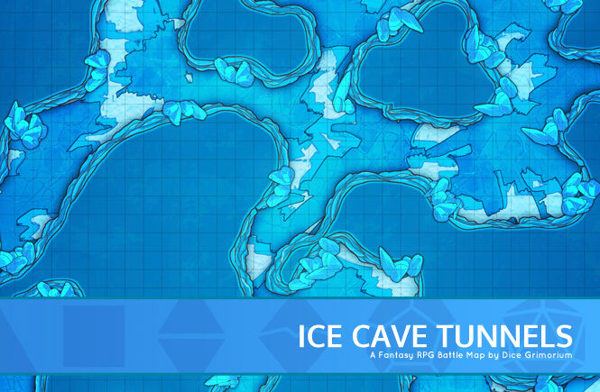 Ice Cave Tunnels Battle Map Banner
