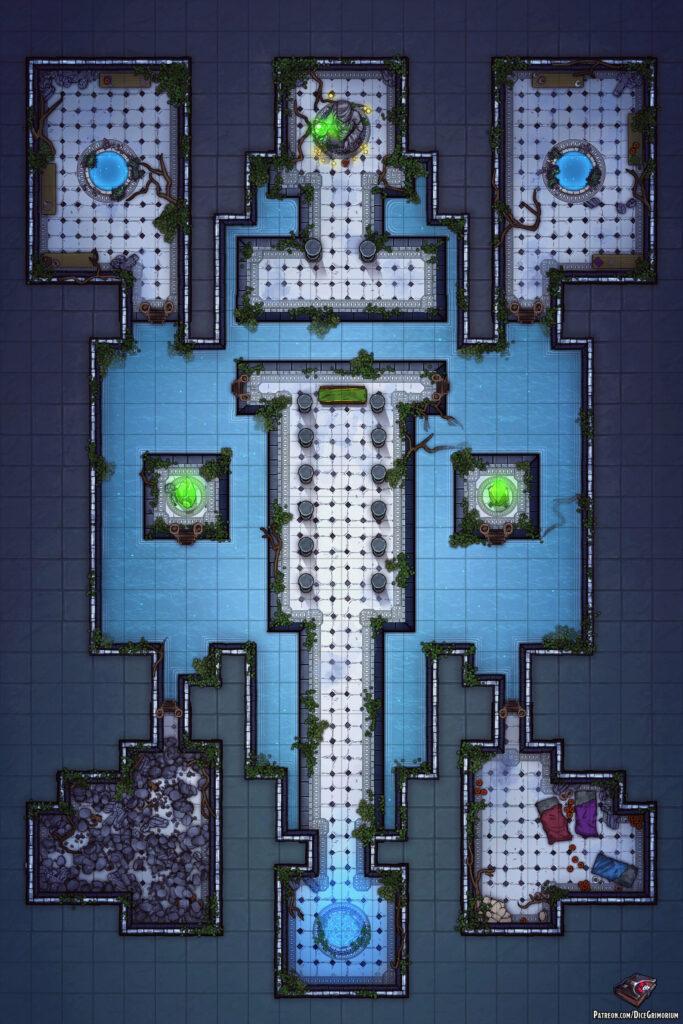 Nature Goddess Temple Battle Map