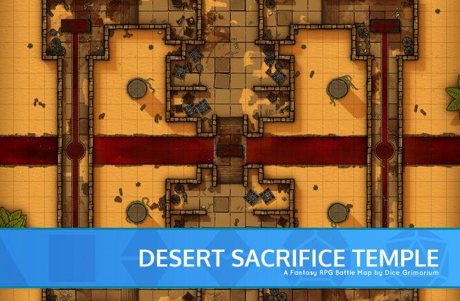 Desert Sacrifice Temple Battle Map Banner