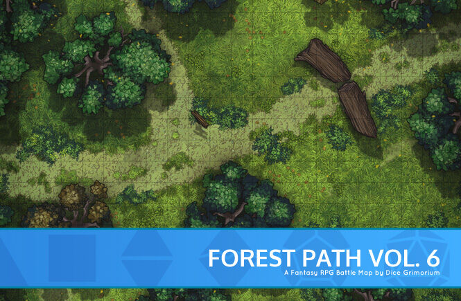 Forest Path Vol. 6 Battle Map Banner