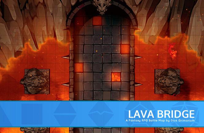 Lava Bridge Battle Map Banner