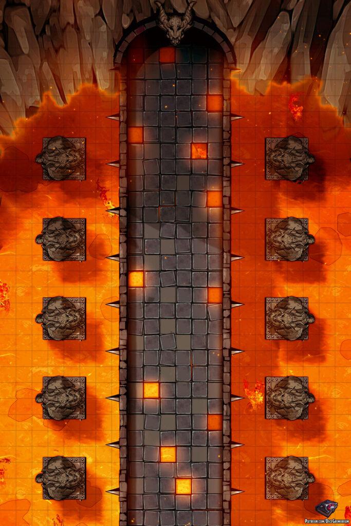 Lava Bridge Battle Map