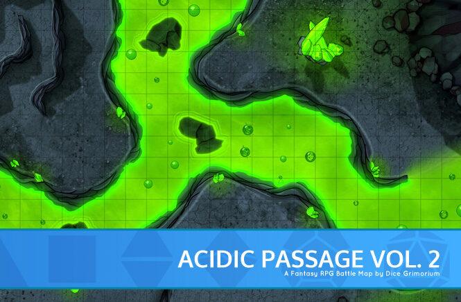 Acidic Passage Vol. 2 Battle Map Banner