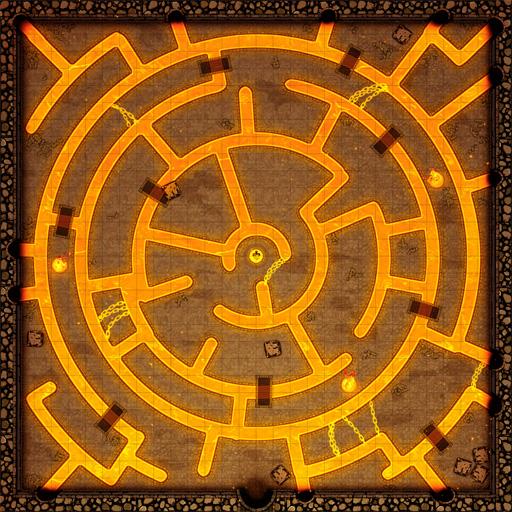 Fire Sword Chamber D&D Battle Map Thumb