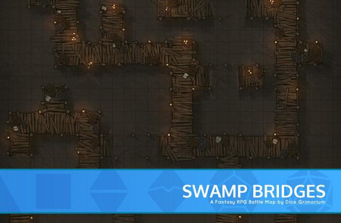 Swamp Bridges Battle Map Banner