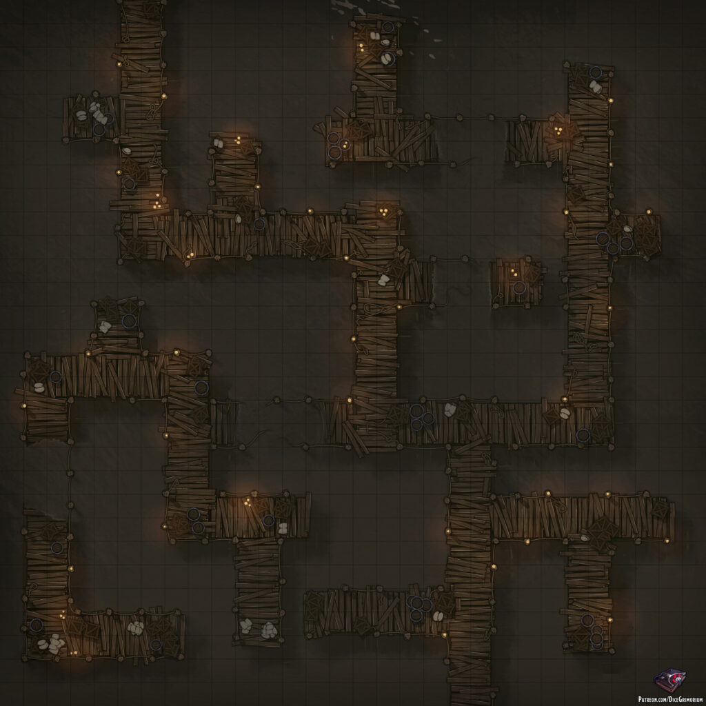 Swamp Bridges Battle Map