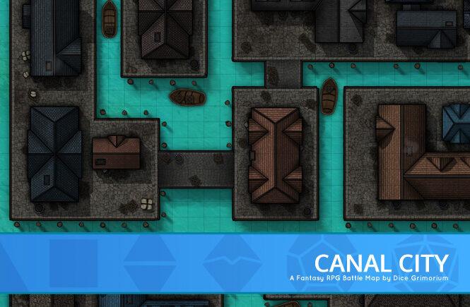 Canal City D&D Battle Map Banner