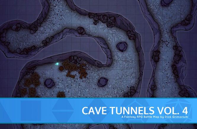 Cave Tunnels Vol. 4 D&D Battle Map Banner