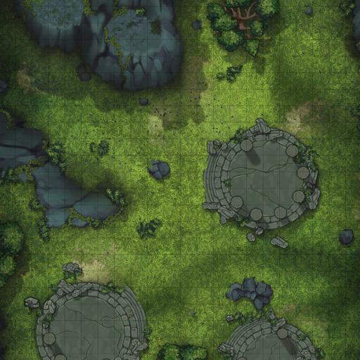 Forest Ruins D&D Battle Map Thumb
