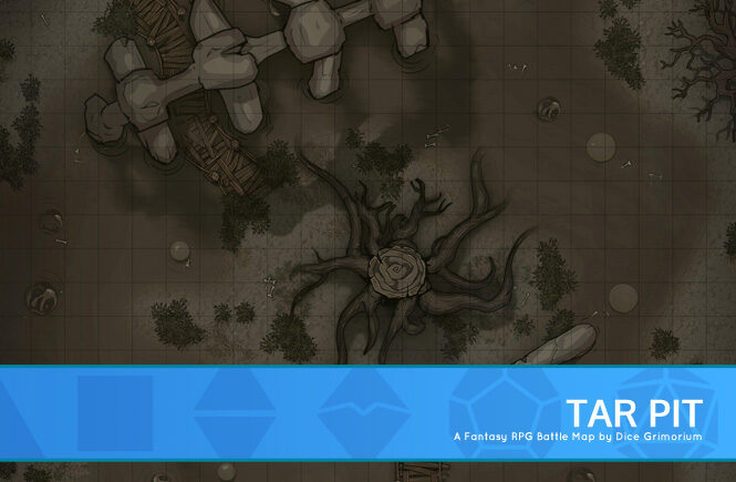 Tar Pit D&D Battle Map Banner