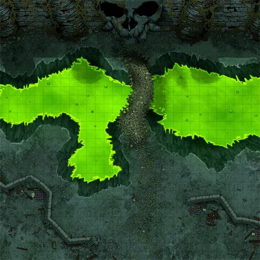 Skeleton Fortress Entrance D&D Battle Map Thumb