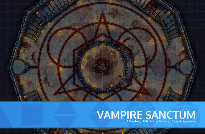 Vampire Sanctum D&D Battle Map Banner
