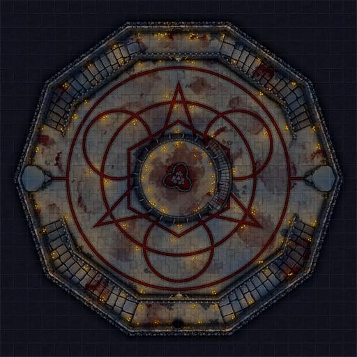 Vampire Sanctum D&D Battle Map Thumb